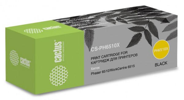 Картридж CACTUS CS-PH6510X (106R03488) черный для Xerox Phaser 6510, WorkCentre 6515