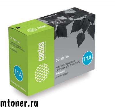 Картридж Cactus CS-Q6511A для принтеров HP Laser Jet 2410/2420/2430 черный 6000 стр.