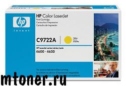 HP C9722A Принт-картридж желтый для HP CLJ4600 серии, на 8000 стр.