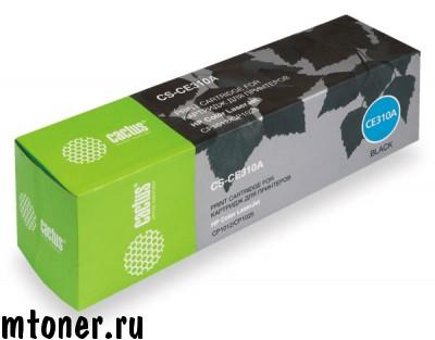 Картридж CACTUS CS-CE310A для HP Color LaserJet CP1012 Pro, CP1025 Pro, черный, 1200 стр.