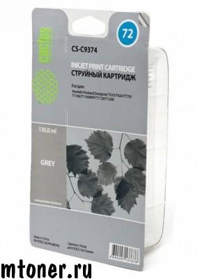 Картридж CACTUS CS-C9374 №72 (grey photo) для HP DesignJet T610, T620, T770, T1100, T1100MFP, T1120, T1200, 800 стр.