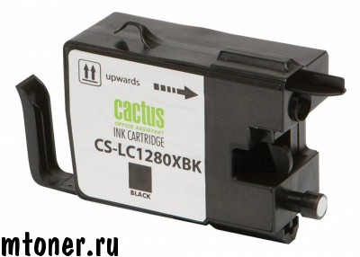 Картридж CACTUS CS-LC1280XBK для Brother MFC-J6510, 6910DW, черный, 62 мл.