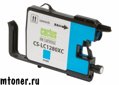 Картридж CACTUS CS-LC1280XC для Brother MFC-J6510, 6910DW, голубой, 16.6 мл.