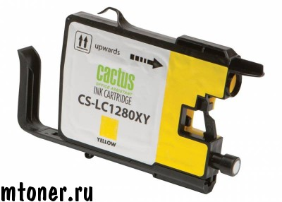 Картридж CACTUS CS-LC1280XY для Brother MFC-J6510, 6910DW, желтый, 16.6 мл.
