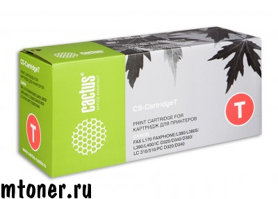 Картридж CACTUS CS-CartridgeT для CANON Fax L170 Faxphone, L380, L380S, L390, L400, IC D320, D340, D383, LC 310, 510, PC D320, D340, 3500 стр.