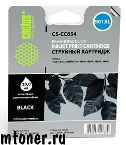 Картридж Cactus CS-CC654 № 901XL, черный, для HP Office Jet 4500 series, 4500G540a, 4500G540g, 4500G540n, J4524, J4535