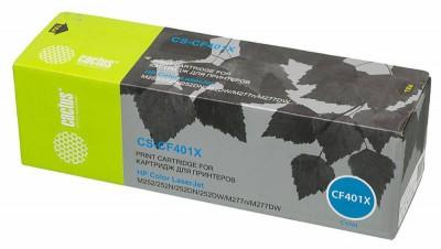Картридж Cactus CS-CF401X для HP CLJ M252/252N/252DN/252DW/M277n/M277DW голубой 2300стр
